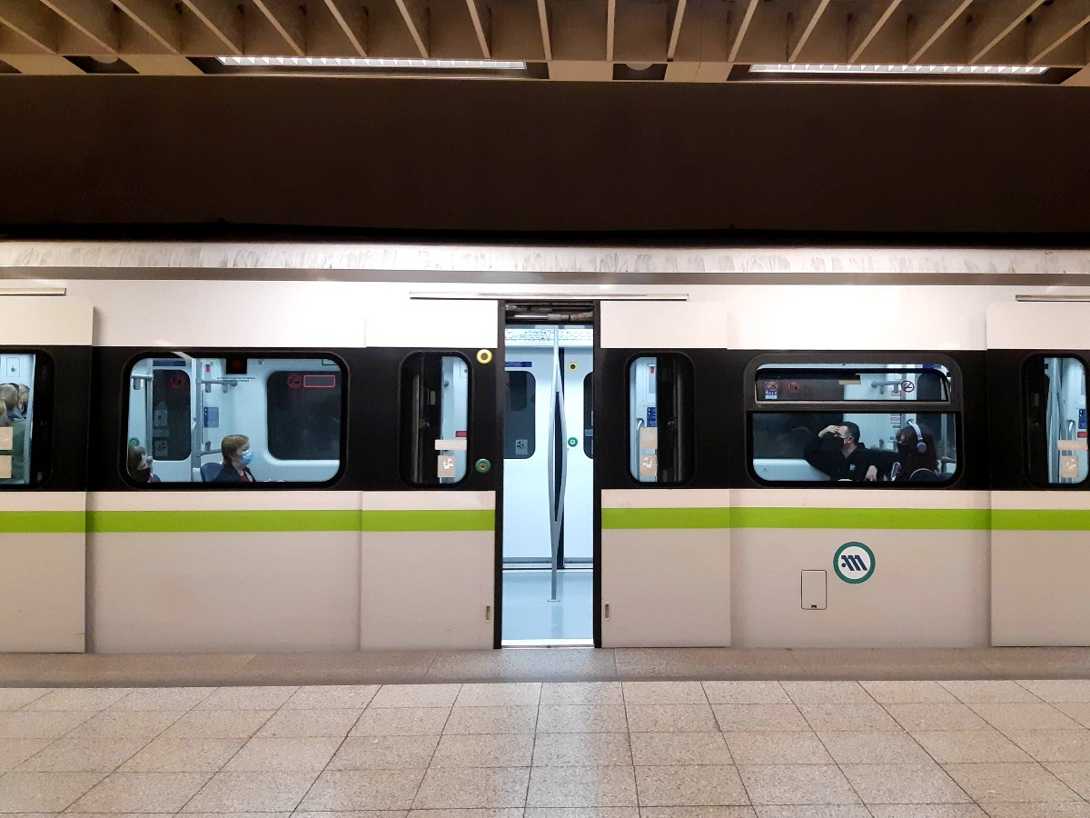 Perfect Athens itinerary - Use the Athens airport metro