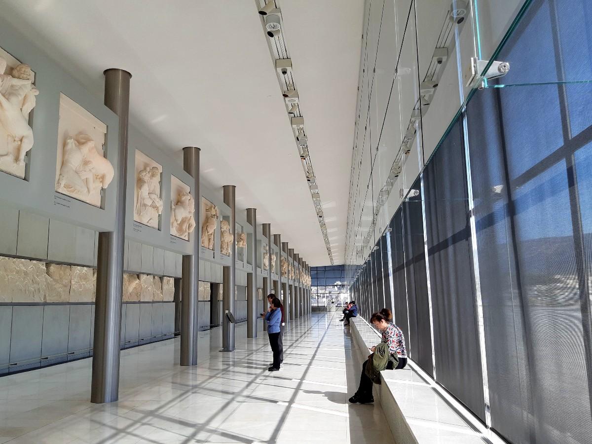 Exhibits in the Acropolis Musum