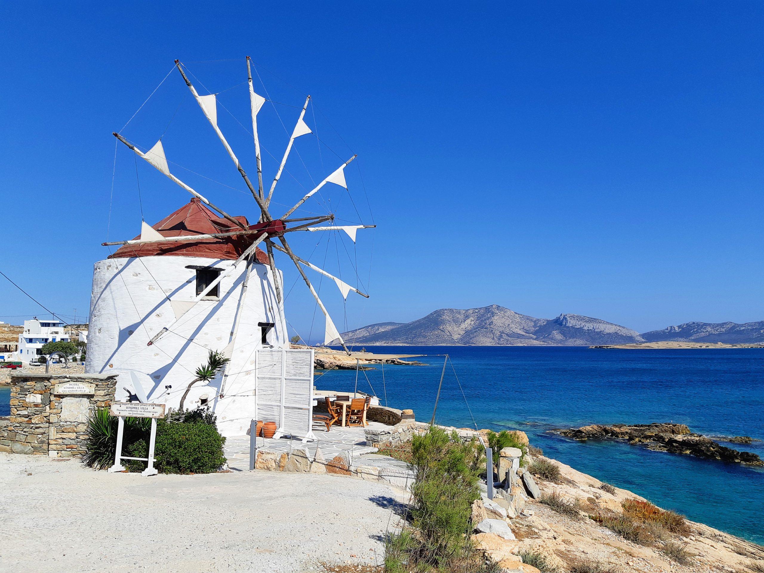 A windmill in Koufonissi Greece