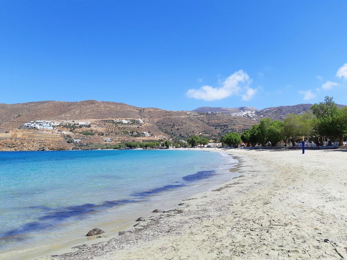 Beach on Aegiali Amorgos