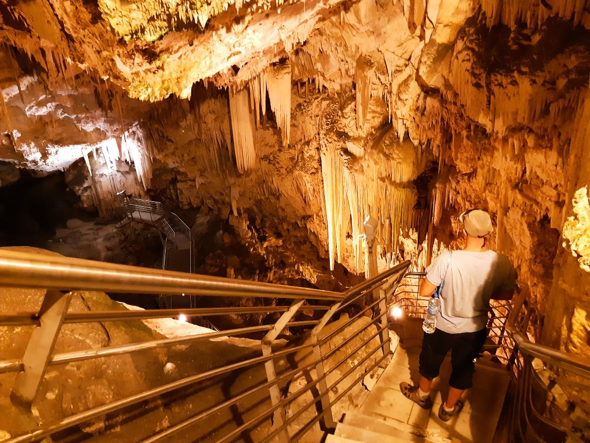 Inside Antiparos Cave Greece