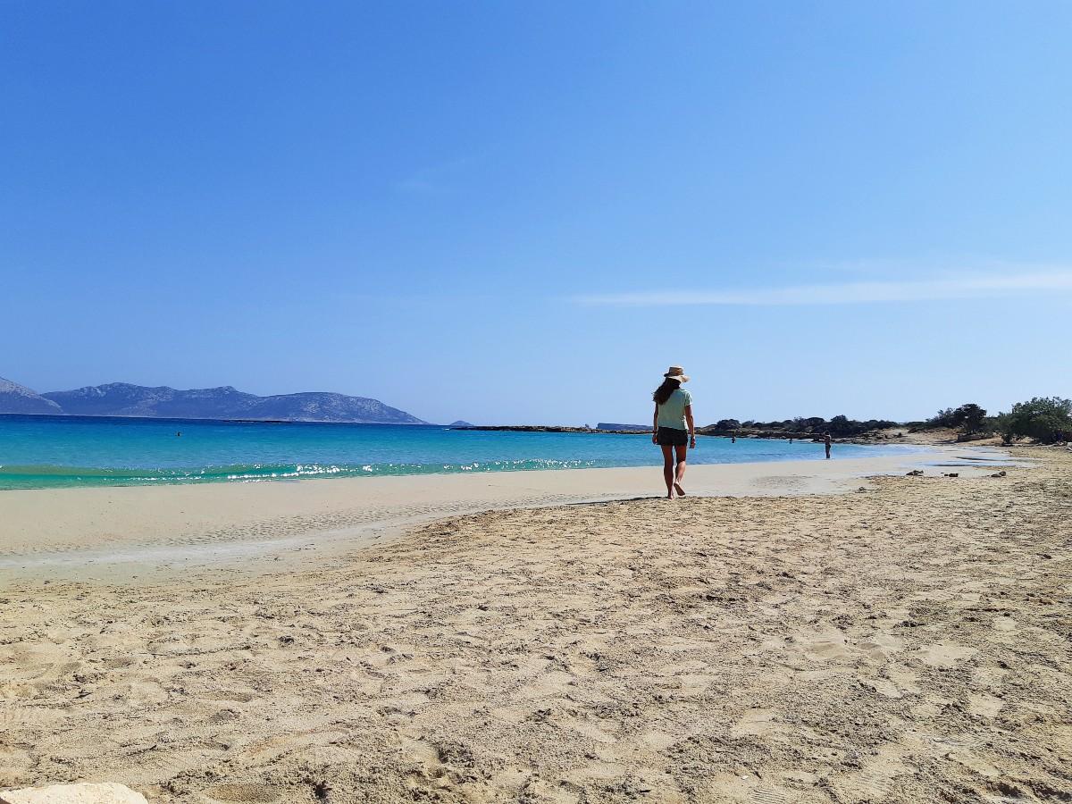 A wild beach in Koufonissi Greece