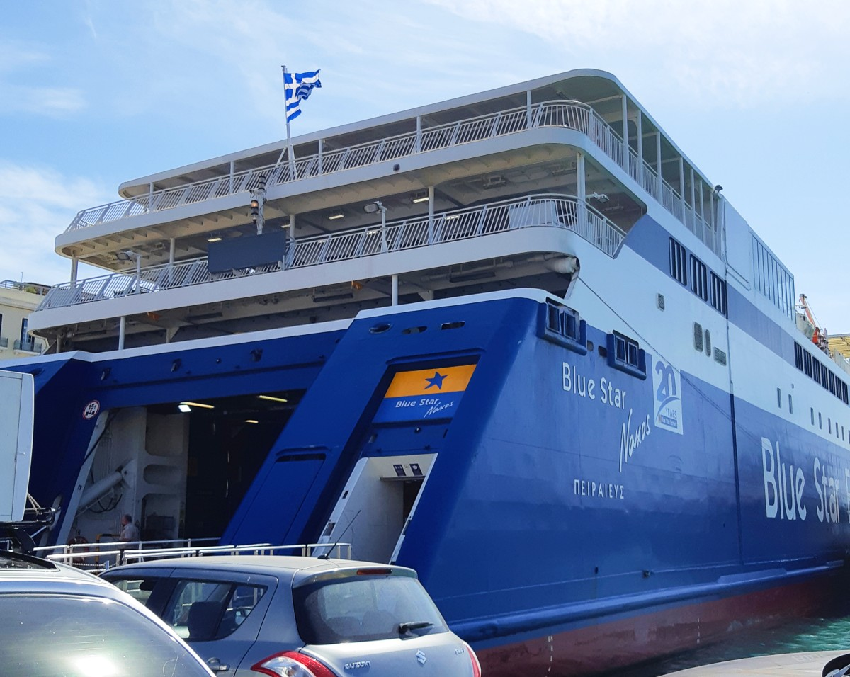 How to get to Amorgos - Taking the Blue Star from Piraeus port