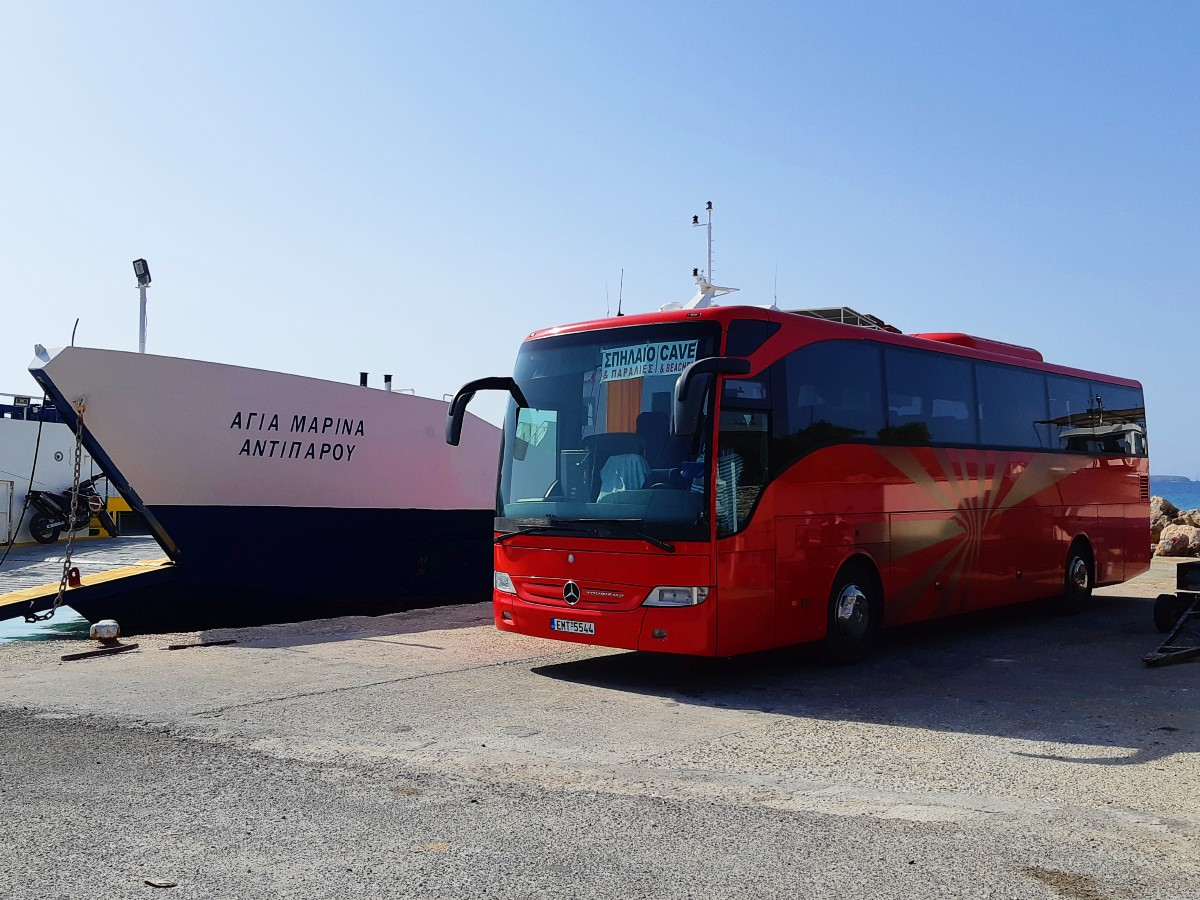 You can take the bus to Antiparos Cave