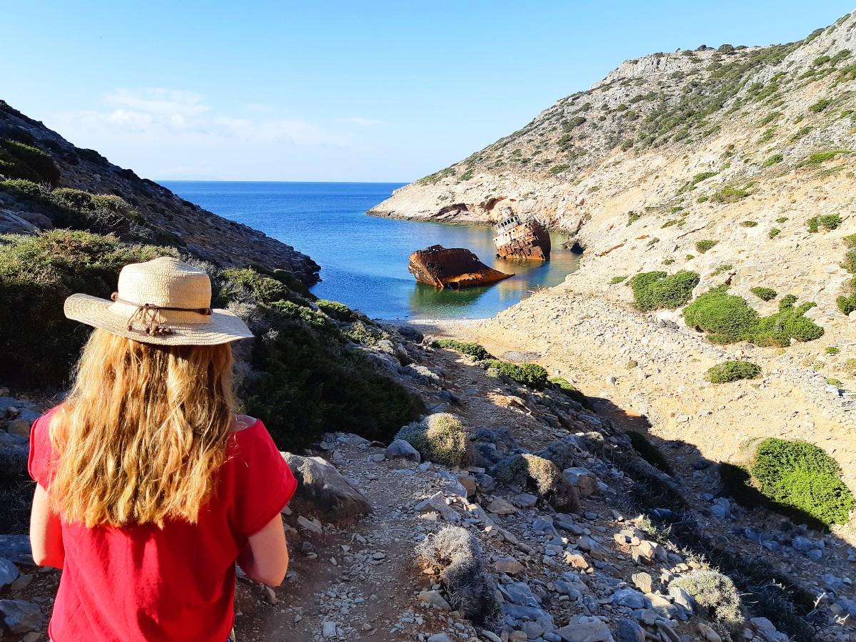 Shipwreck in Amorgos Greece