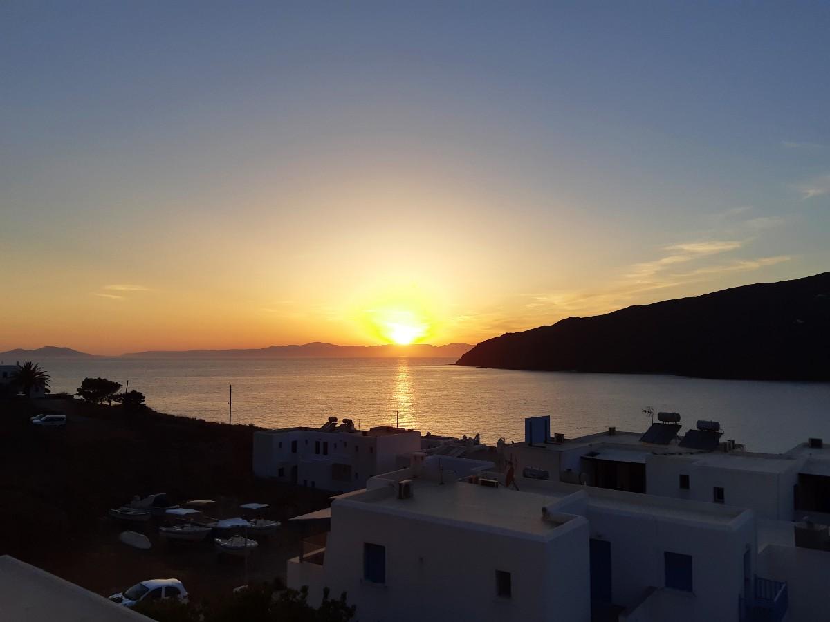 Sunset over Amorgos Greece