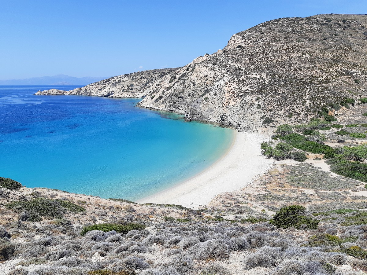 Best beach in Donousa island - Livadi