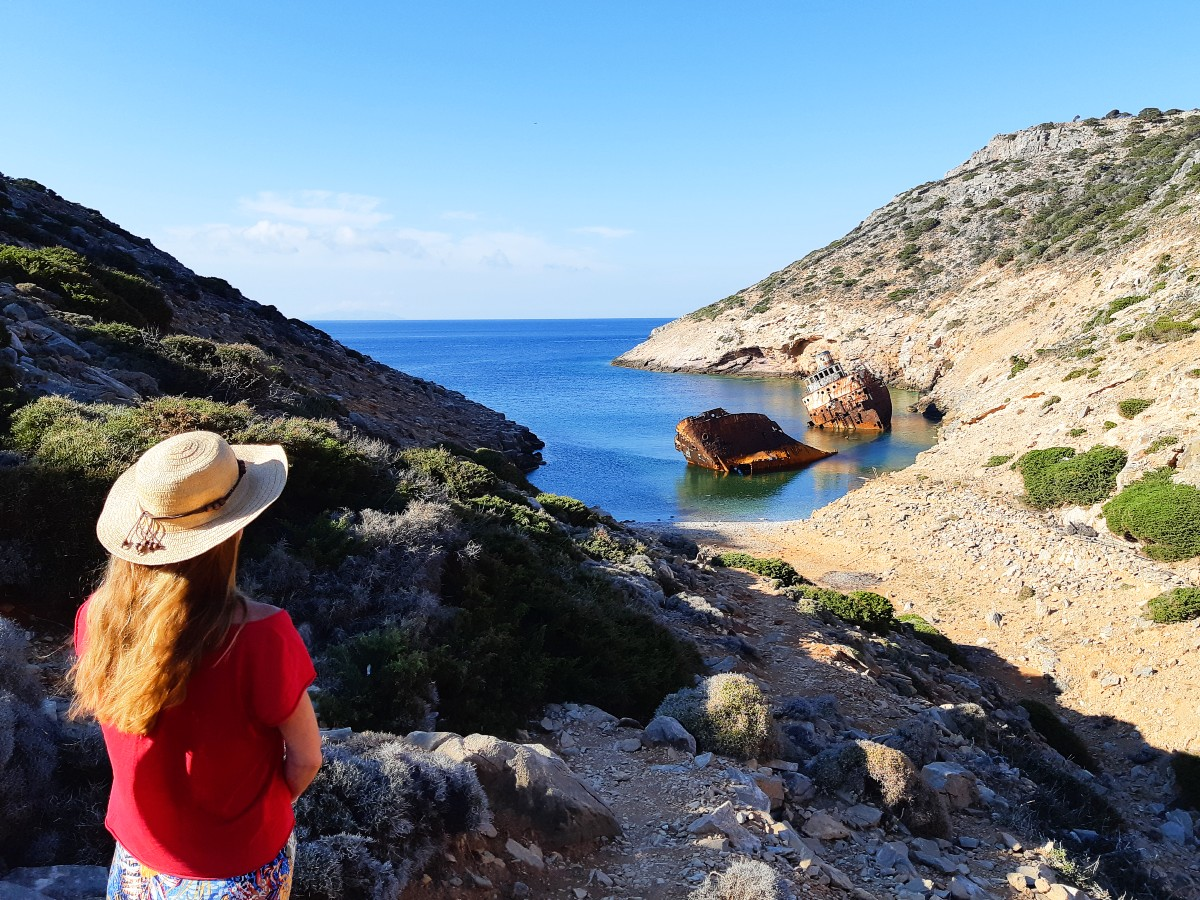 Famous Olympia shipwreck in Amorgos