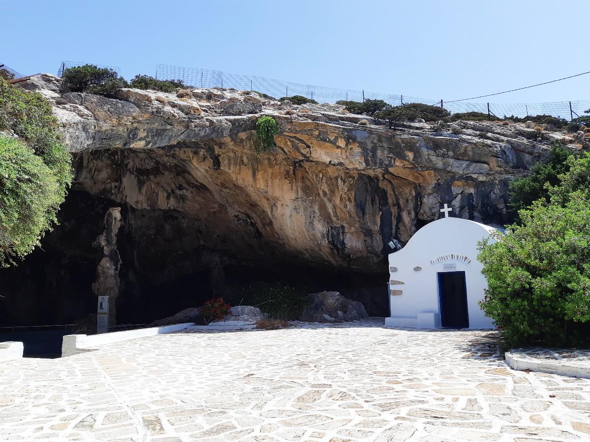St John church outside Antiparos Cave