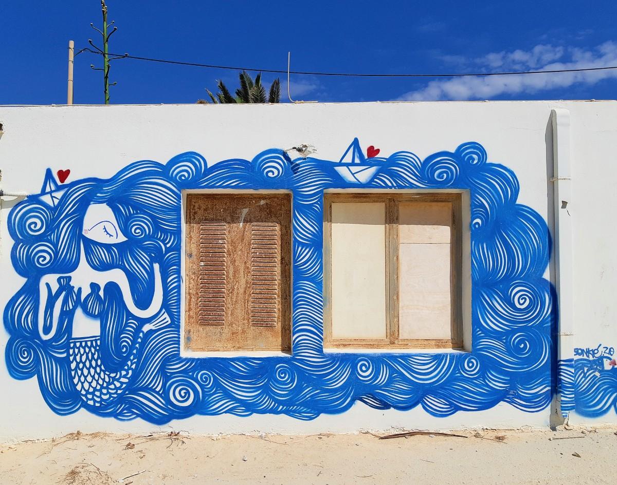 A mural in Koufonissi Greece