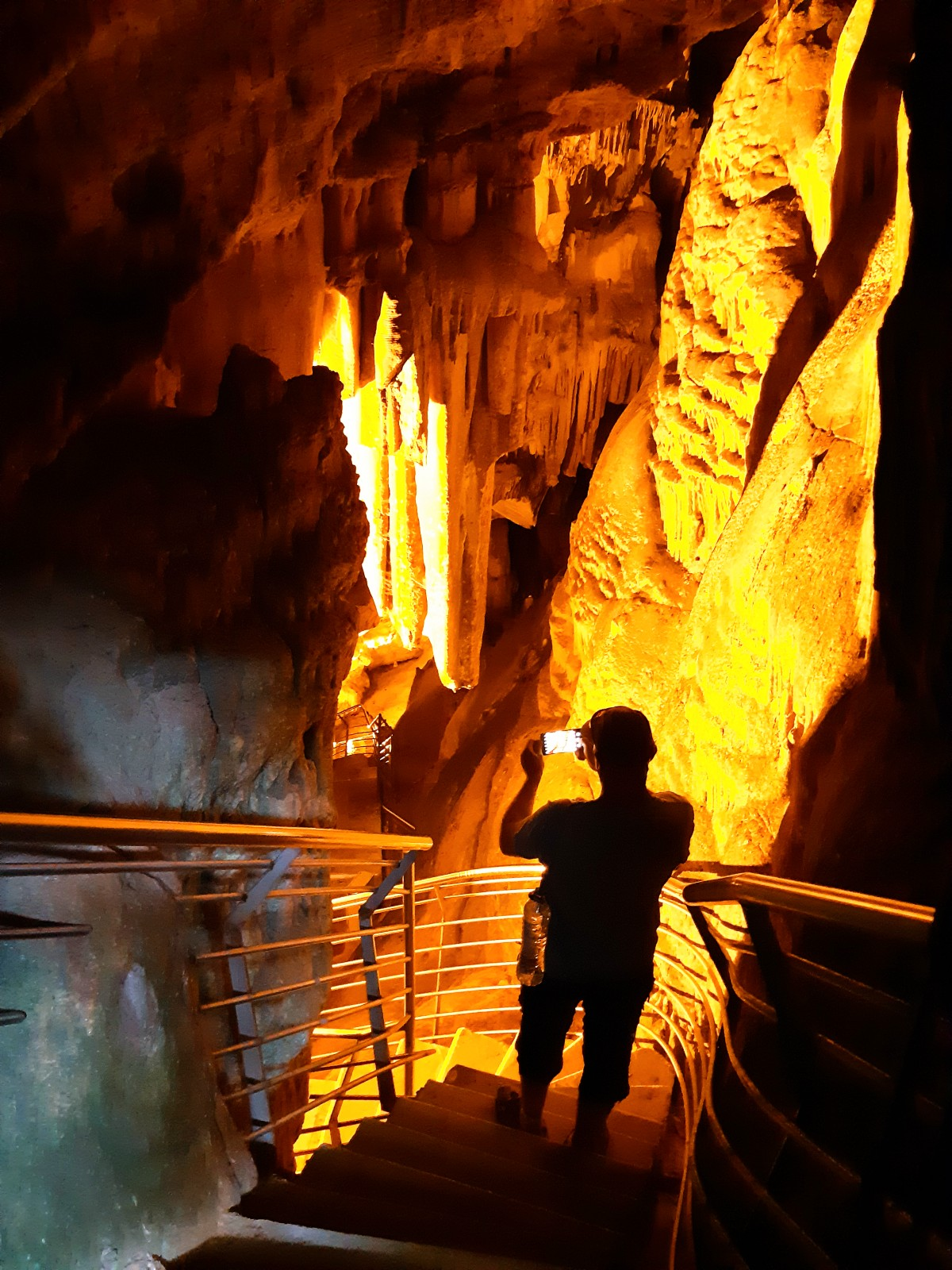 Inside the cave in Antiparos
