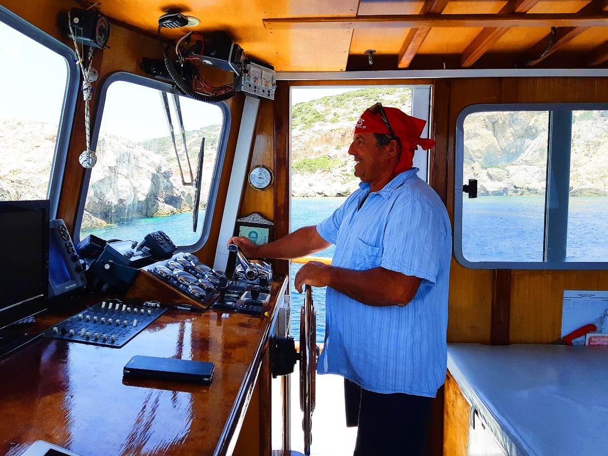 Despotiko tour captain Sargos