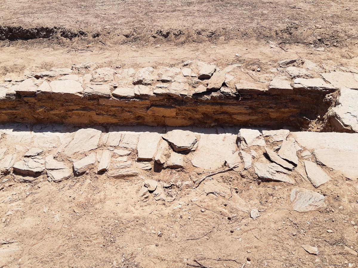 Ruins in Despotiko ancient site Greece