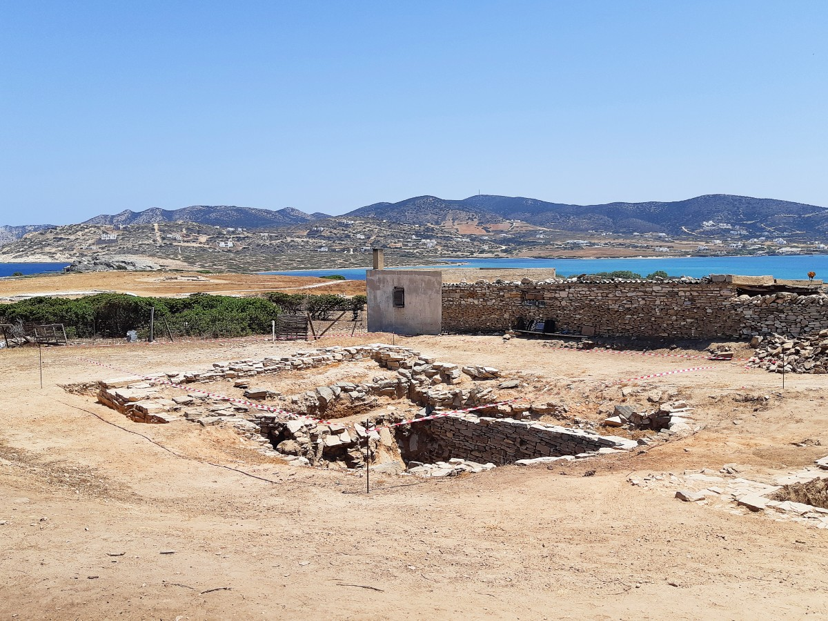 Current excavations on Despotiko ancient site Greece