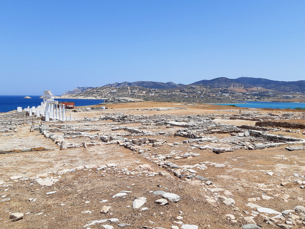 Archaeological site of Despotiko in Greece