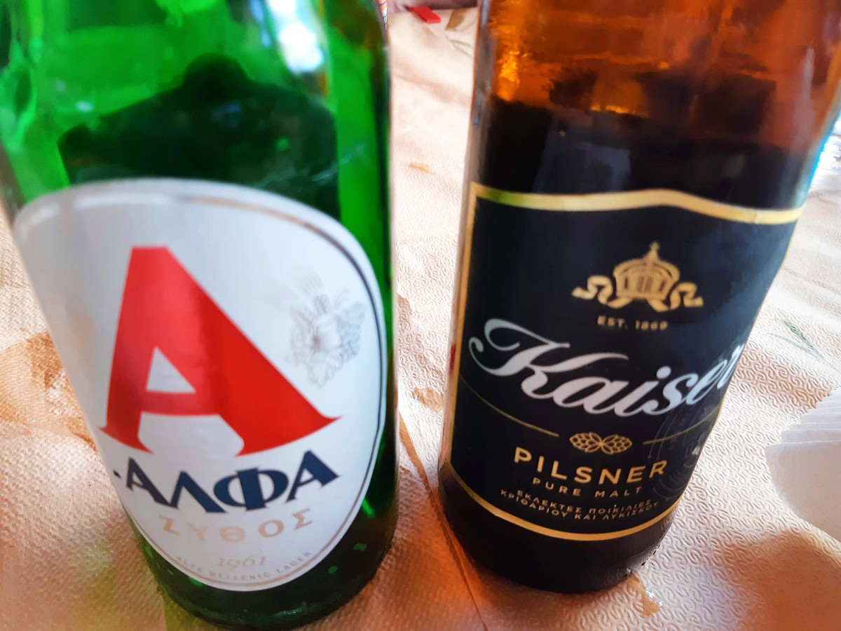 Beers in Greece are served extra cold