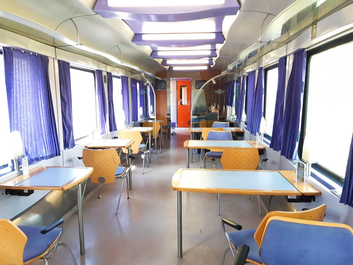 Canteen inside the train in Greece