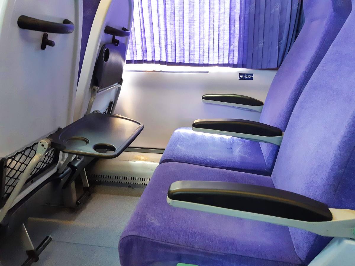 Inside the train in Greece
