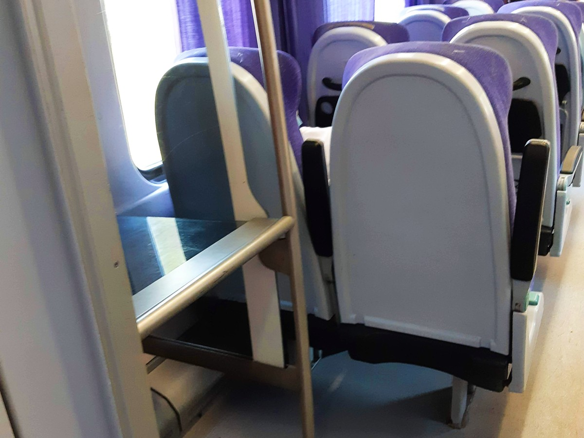 Luggage storage in the train in Greece
