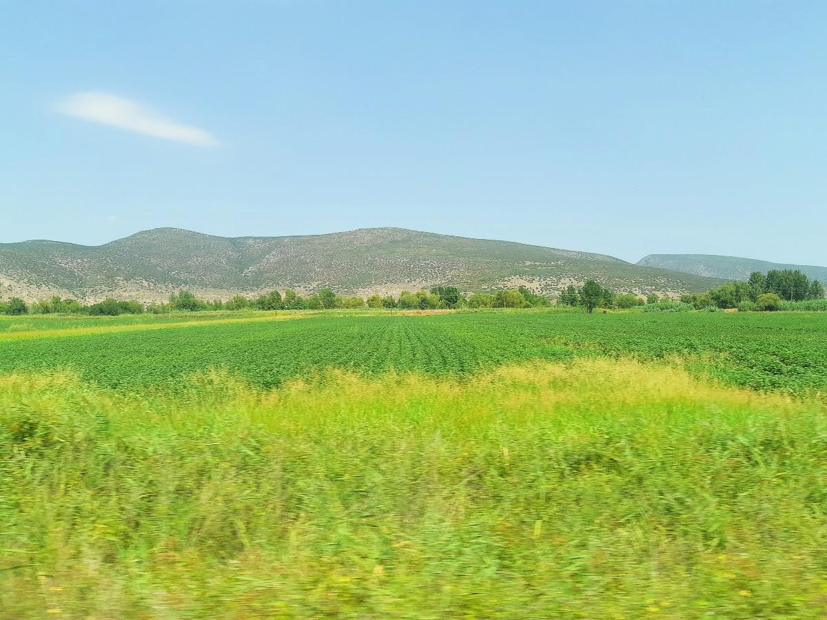 View of mainland Greece