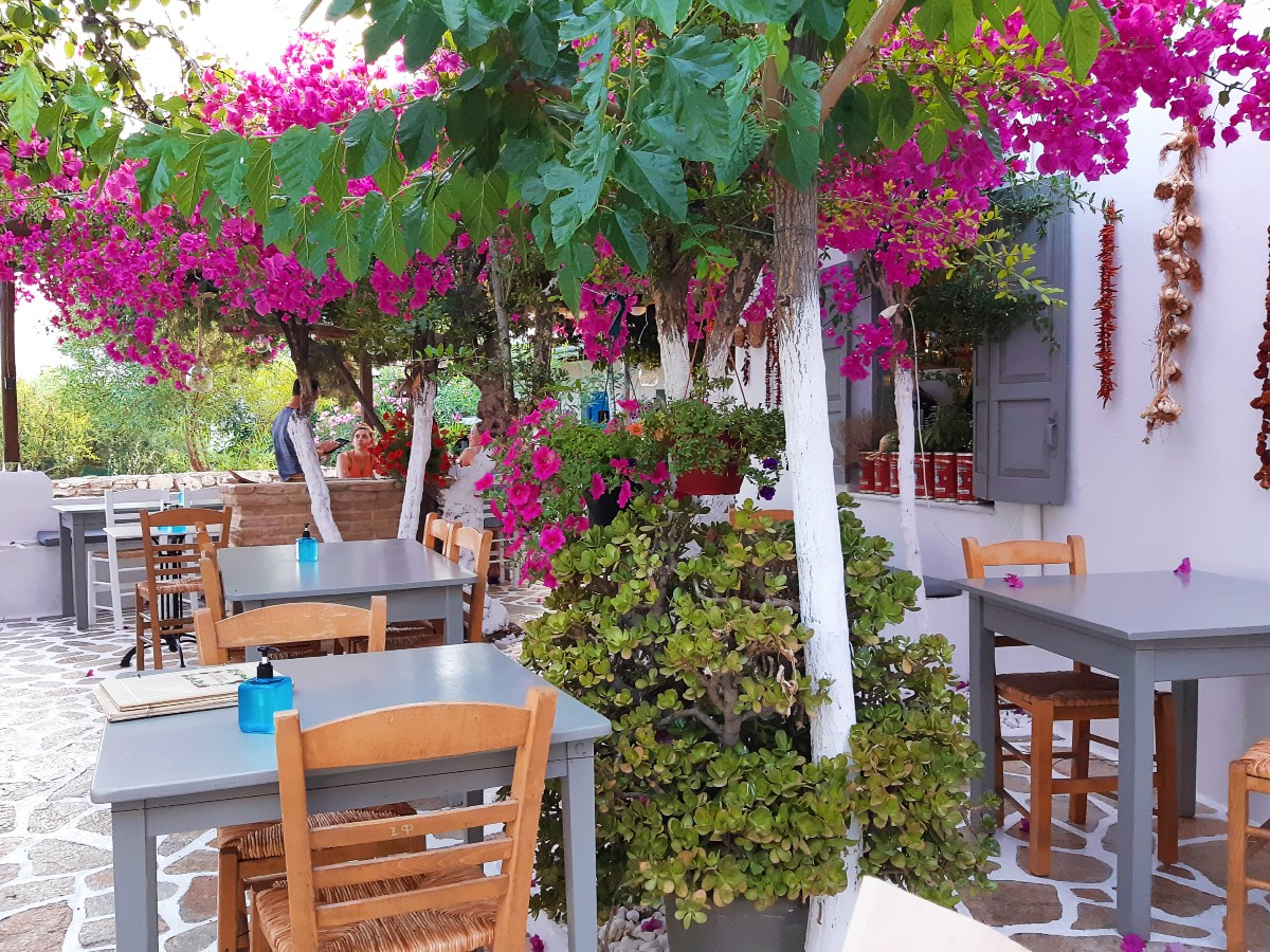 Local taverna on an island in the Cyclades