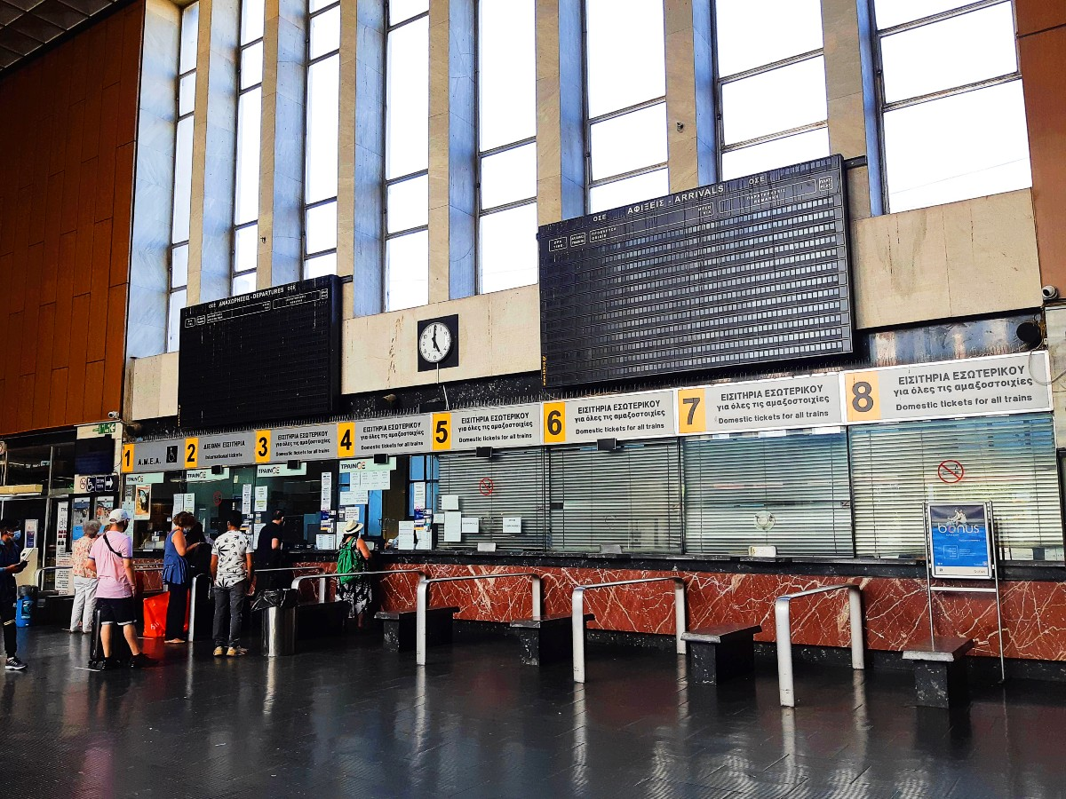 Book your tickets at Thessaloniki train station Greece