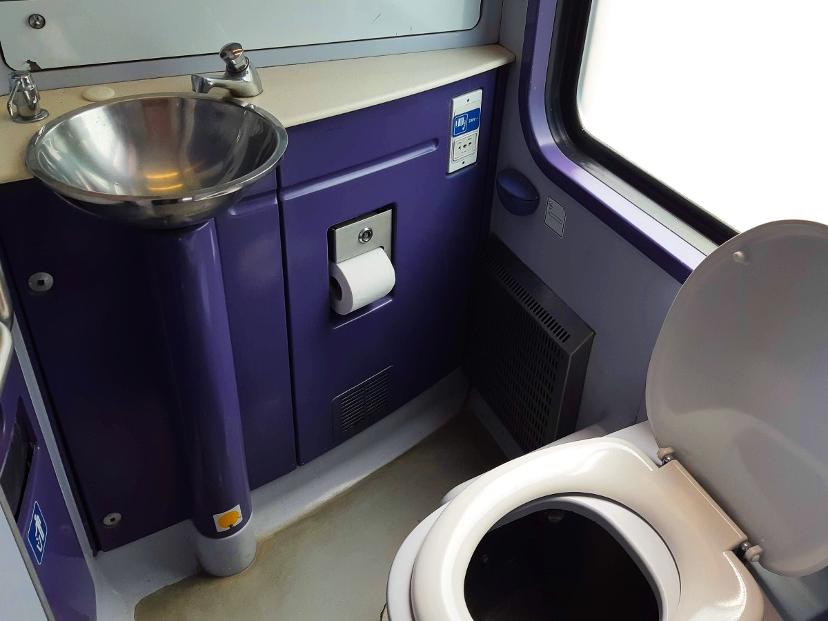 Toilets in the Greek trains