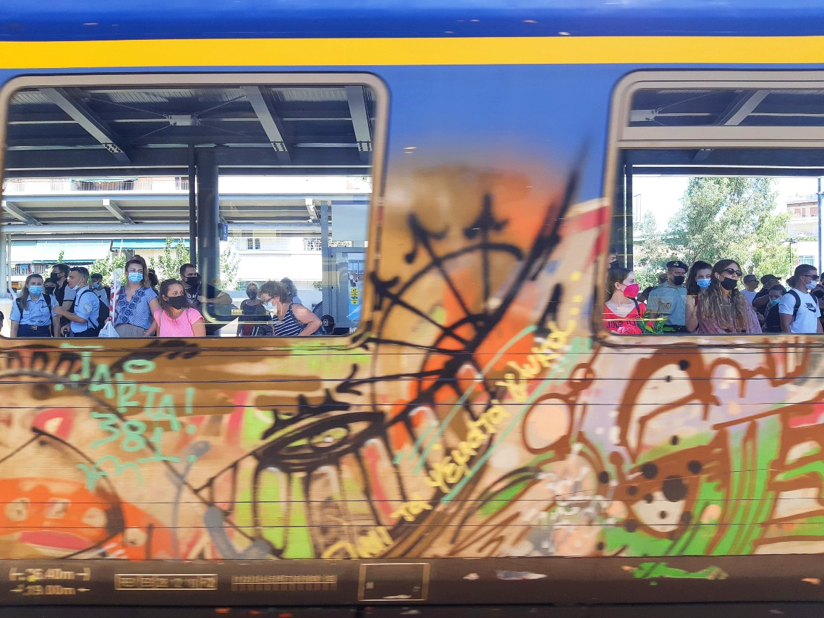 A train in Greece