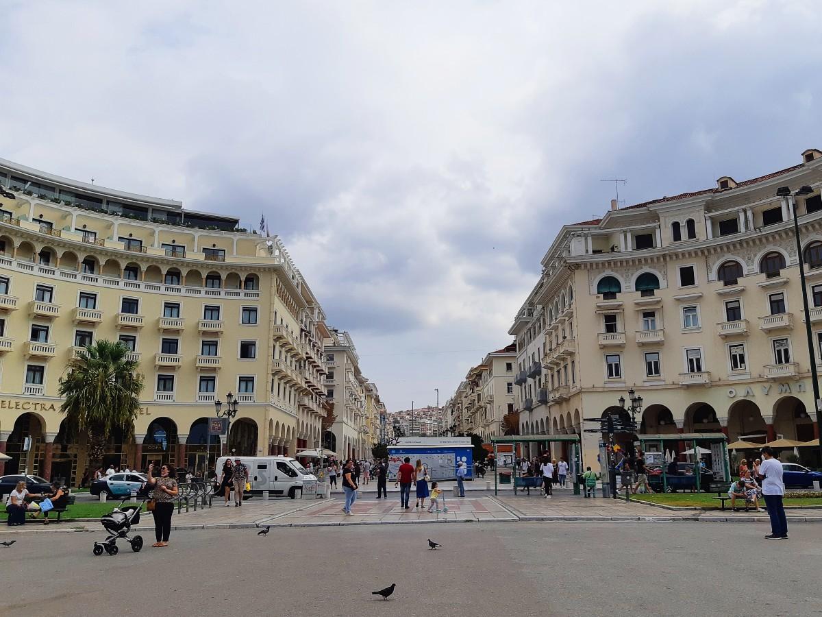 Aristotle square in Thessaloniki Greece