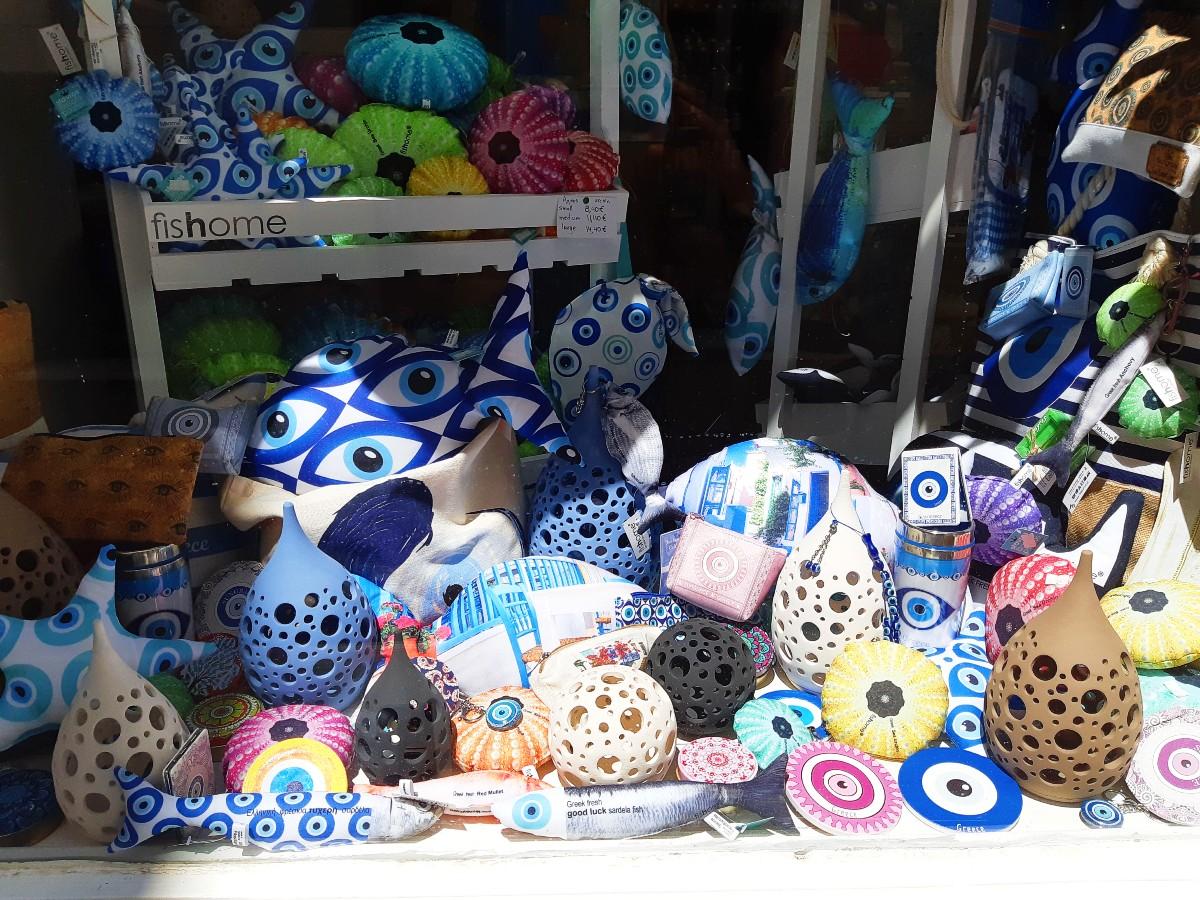 Greek evil eye souvenirs